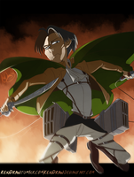 7192013 Attack on Titan: levi by KenDraw