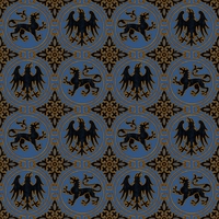 Medieval Pattern in Black and Gold by Yagellonica