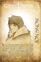 JON SNOW Game of Thrones by H3IR