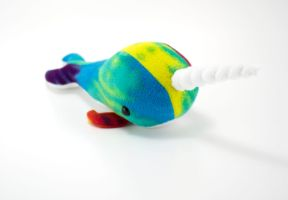 Rainbow Narwhal by BeeZee-Art