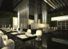 3D Dining Cafe by gill85