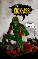 KICK-ASS vs. Wolverine by Andrew-ak-47