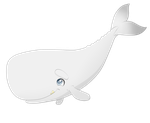Oona's whale Cub Moby by Charming-Manatee