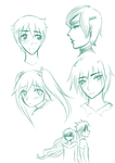 Sketchdump: Those who are from my dreams. by kuraikitsune13