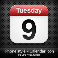 iPhone style - Calendar icon by YaroManzarek