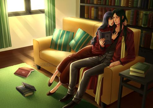 Commission: Rin and Waver by alexielart
