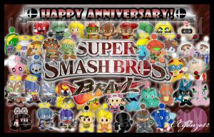 SSBB: 4th Anniversary by CCgonzo12