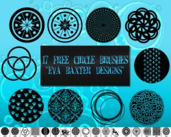 17 Free Circle Brushes! *Eva Baxter Designs* by EvaTakesNoPrisoners