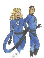 Fantastic Four : Reed and Sue by Koku-chan