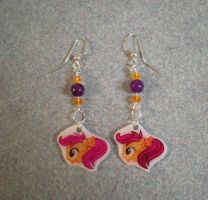 MLP Scootaloo Earrings Custom G4 FOR SALE by AmyAnnie14