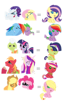 Unfortunate Pony Ships: Baby Adopts (OPEN) by SNlCKERS