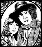 The Doctor and Sarah Jane by MystSaphyr