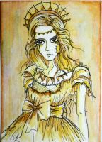 Goddess of the Sun ACEO by dyingrose24