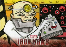 Iron Man 3 - Half-Face by 10th-letter
