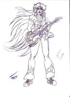 Bianca as guitarist for a band: Lions Fire by bianca-b9k4