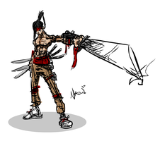 Samurai Warrior Speed Drawing by Nhazul-Anims