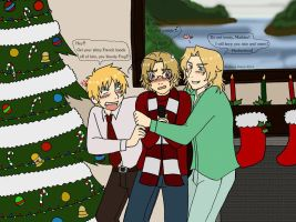 England, Canada, and France at Christmas by RavenDunbar