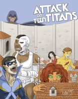 Attack on Teen Titans by kmajor