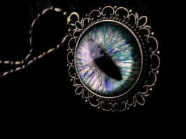 Earth Sunlight Water Dragon Eye - Dream Pendant by LadyPirotessa