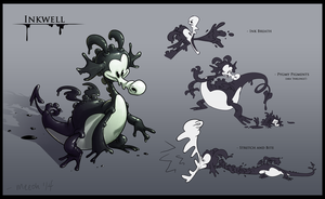 MOBA Character - Inkwell by meeoh