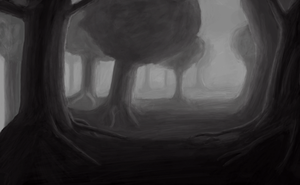Forest Speed Painting by Jizzy342