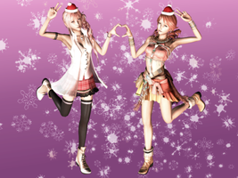 Serah and Vanille - Happelly Melly Chlismas 2012 by HentaiAhegaoLover