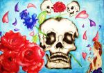 Skulls and Roses by MollySpeaight
