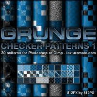 Grunge Checker Patterns 1 by AscendedArts