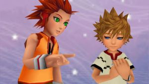 Young Axel and Roxas by FaithYoite
