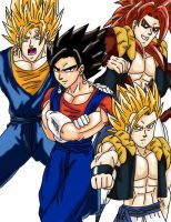 Anime Classics DBZ GV Fusions by Wyvern07