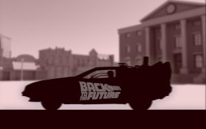 BTTF DeLorean - Wallpaper by iFab