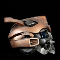 Steampunk Copper Bumblebee Helmet Profile by artfordable