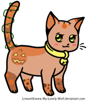 Cat adopt five-Pumpkin patch kitty by TopazAdopts