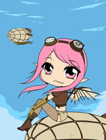 Chibi Steampunk Series - Sweet Airships by Mibu-no-ookami