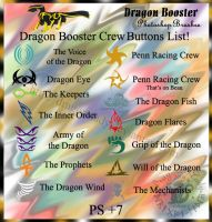 Dragon Booster Crew Brushes by Dragon-Lady