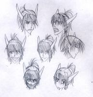 Ryo_Faces by YonYonYon