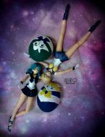 Sailor Neptune and Sailor Uranus with easter egg by MichiruPLANET