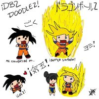.:DBZ doodles XD:. by 221bee