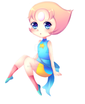 STEVEN UNIVERSE: PEARL CHIBI KEYCHAIN PREORDER by IciaChan