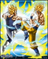 Majin Vegeta VS Goku by DBZwarrior