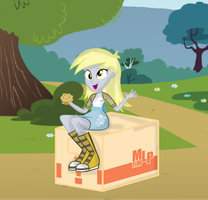Derpy and muffin. by CuteDerpyHooves