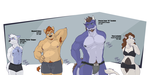 Character Line Up by FrostyPuppy