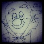 Napkin Art 156 - King Candy - Wreck-It Ralph by PeterParkerPA