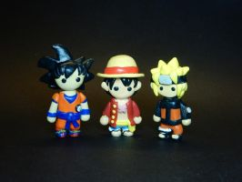 Mini Anime Characters by Snowifer