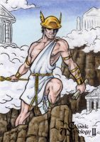 Hermes Sketch Card - Classic Mythology II by tonyperna