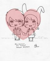 Fionna and Marshall Lee by Mortegax13