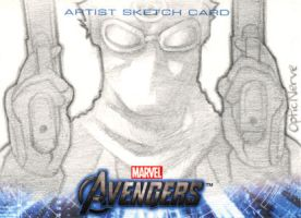 Avengers Assemble Sketchcard - Ultimate Hawkeye by theopticnerve