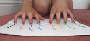 Crayon nails by PhotgrapherGeek