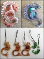 Brooches, charms by Rrkra