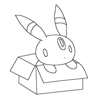 Umbreon in box by Skittychu-bases